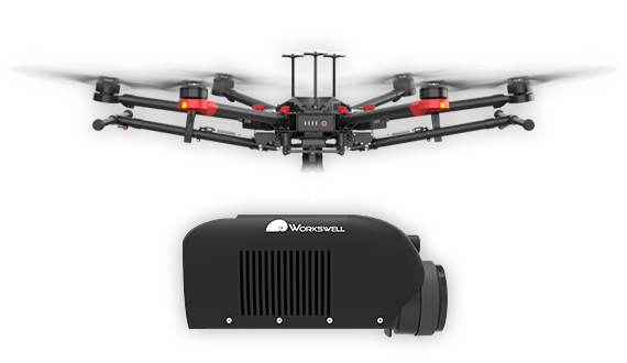 Workswell GIS 320 is fully compatible with drones like DJI Matrice 600