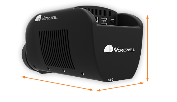 Dimensions of gas camera Workswell GIS 320