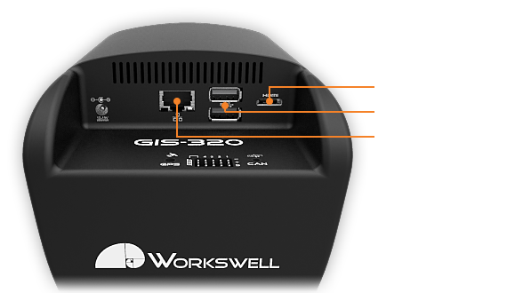 Recording inputs of gas camera Workswell GIS 320