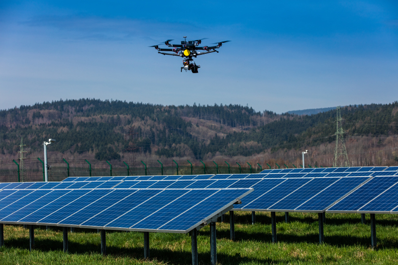 Thermodiagnosis Of Photovoltaic Power Plants Drone