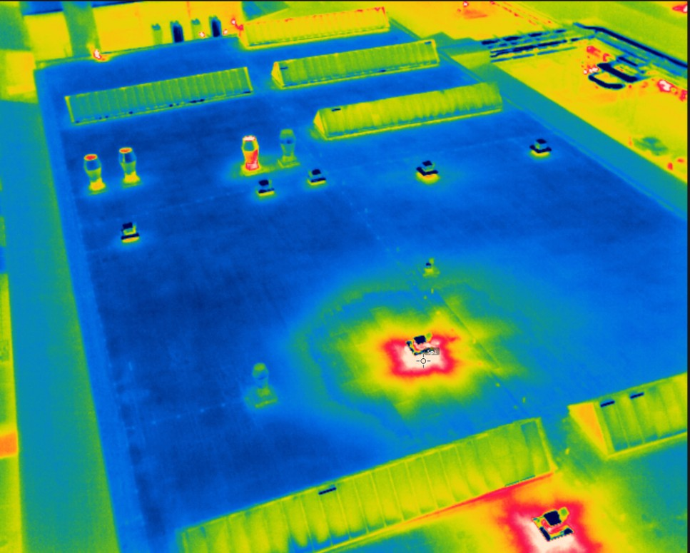 Thermal screen from Workswell WIRIS