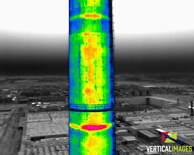 Chimney inspection using thermal imaging camera Workswell WIRIS