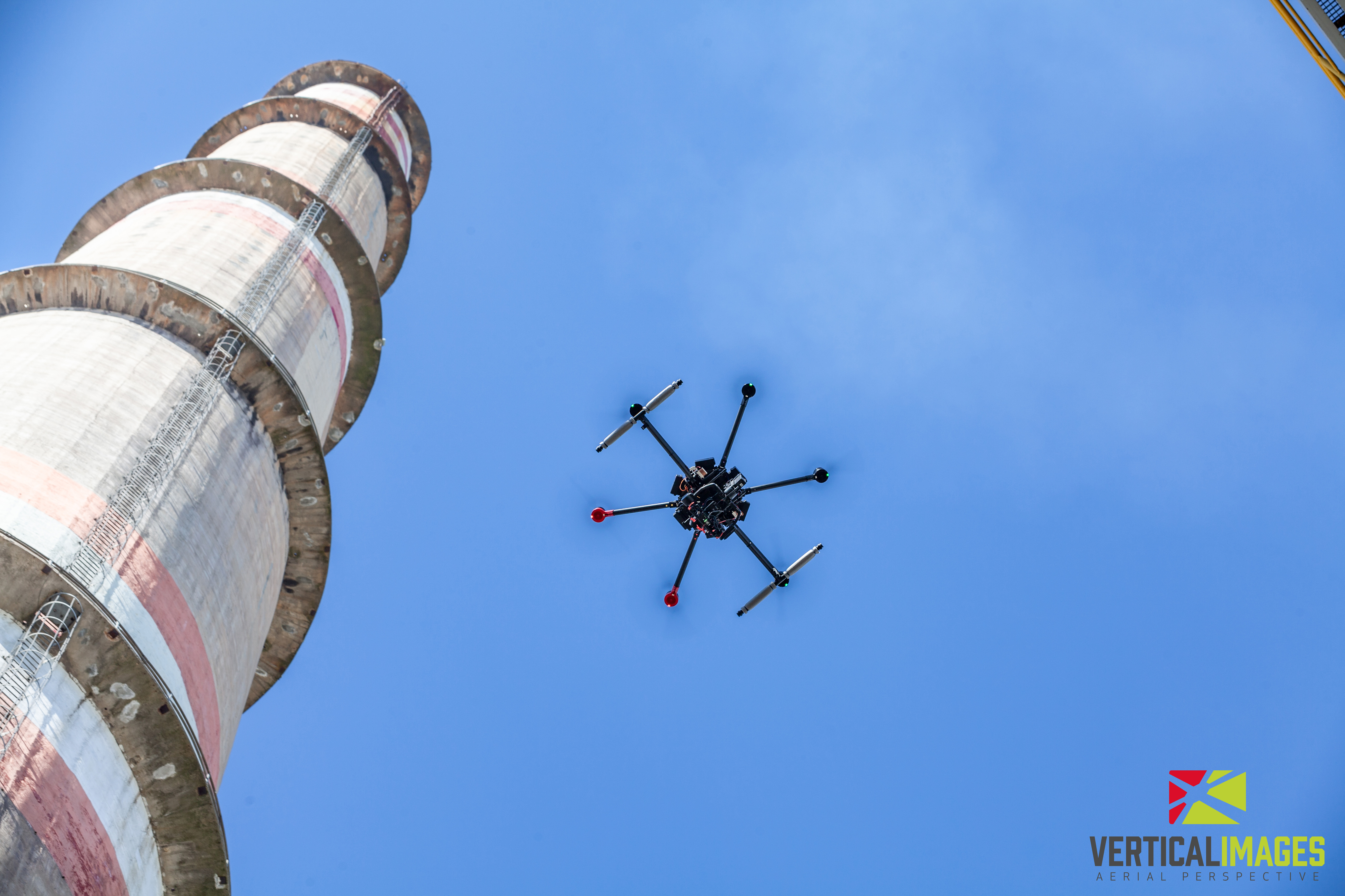 Chimney inspection using a drone and thermal imaging camera with DJI M600 Pro