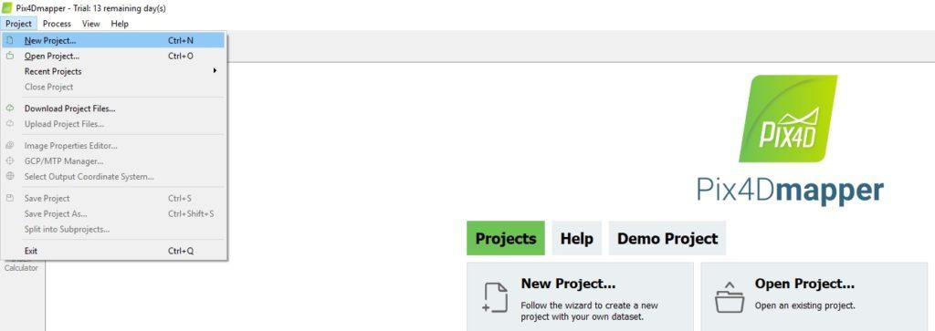 """Click """"New project"""""""