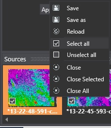 """2. Select the images you want to change, right-click on one of them and choose """"Select All"""". You can navigate between the images using the arrows in the two bottom corners."""