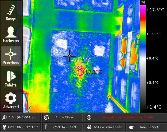 Hot water leaks underground discovered using thermal drone
